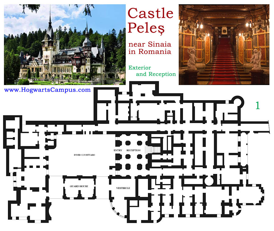 Peles Castle Floor Plan - 1st Floor