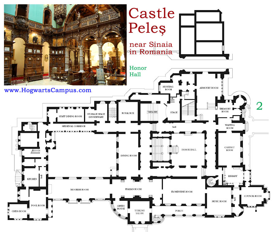 Peles Castle Floor Plan 2nd Floor