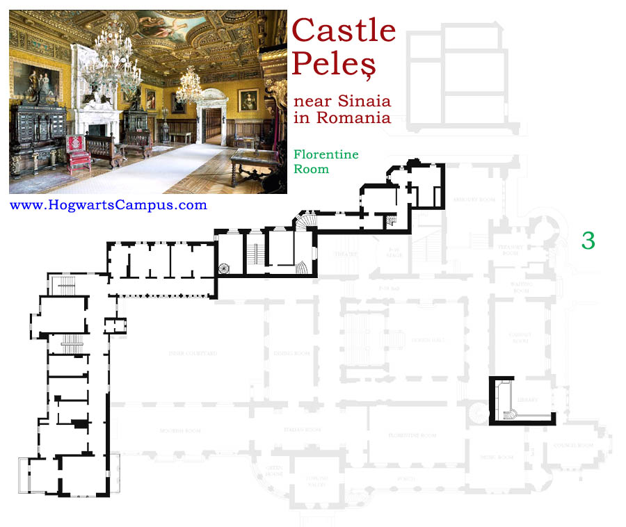 Peles Castle Floor Plan 3rd Floor