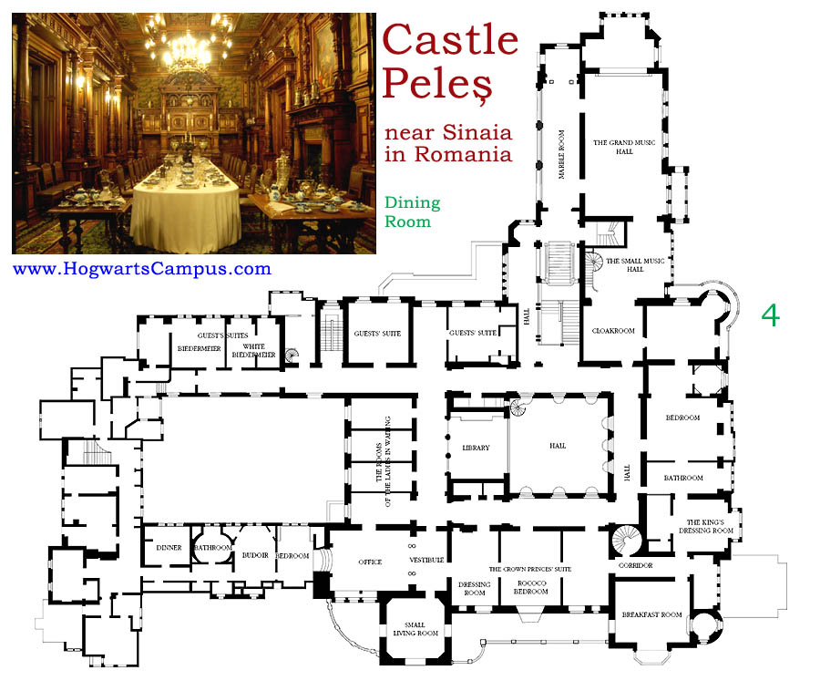 Peles Castle Floor Plan 4th Floor