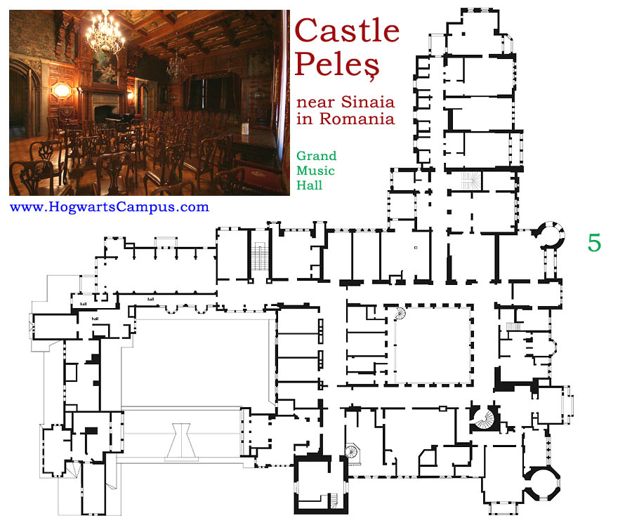 Peles castle floor plan 5th floor for Castle blueprints and plans