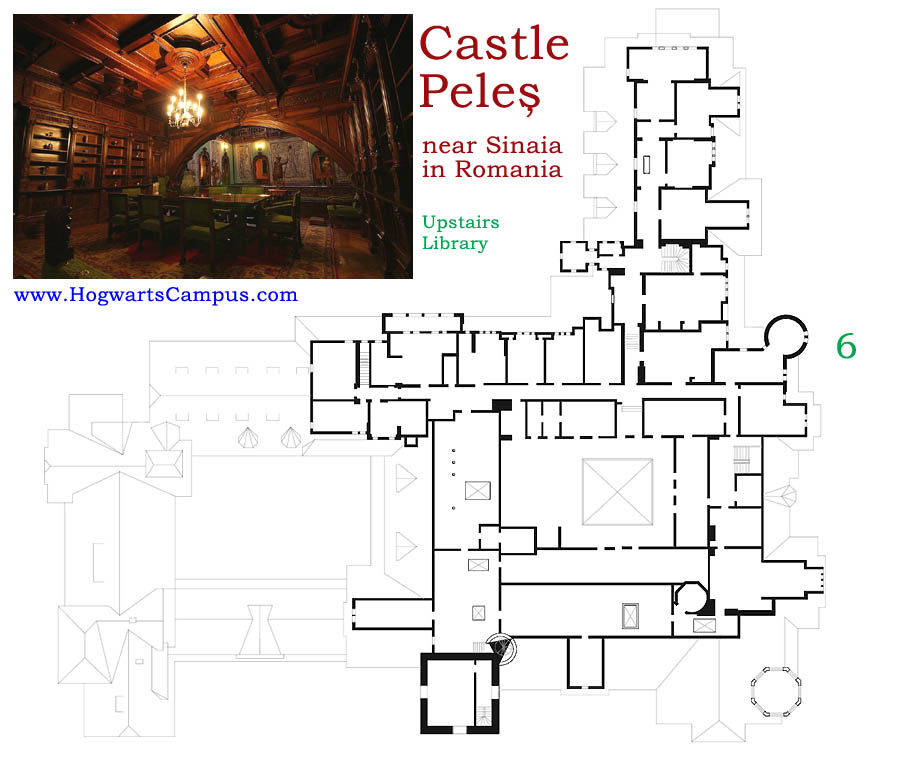 Peles Castle Floor Plan - 6th Floor