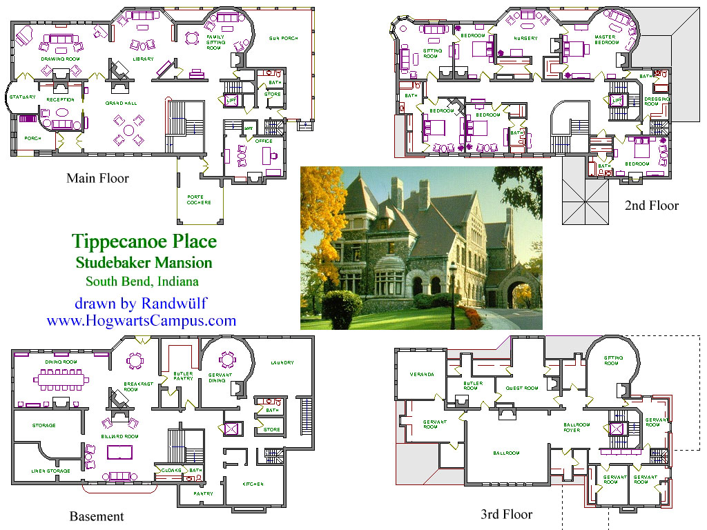 Hogwarts floor plans house plans home designs for Estate home floor plans